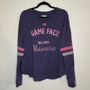 Maurices Game Face Jersey Tee